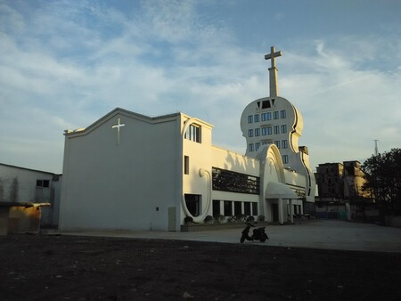 Violin church in Foshan, Guangdong province