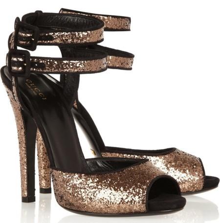 Gucci Glitter Sandals