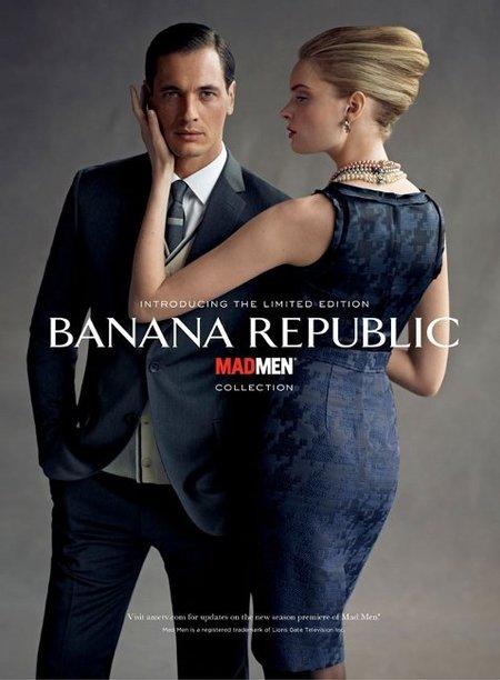 Banana Republic lanza una colección basada en Mad Men