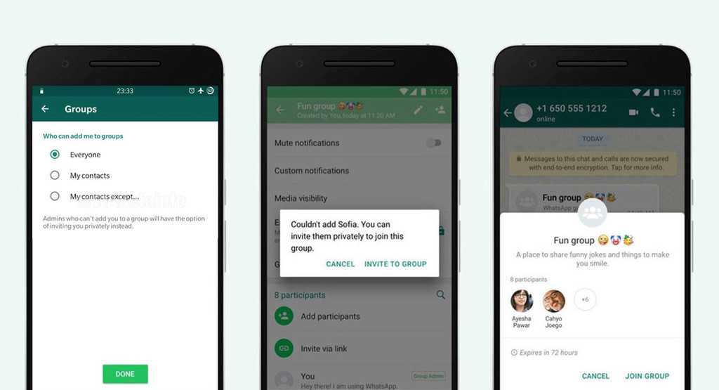 WhatsApp will let us decide who can add us to groups, and who is not, according to WaBetaInfo