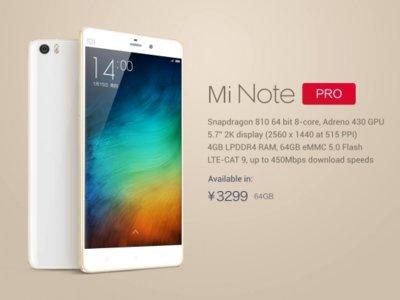 Mi Note Pro llegará a las tiendas el próximo 6 de mayo