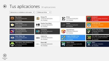 Gestionar aplicaciones entre Windows 8 y RT