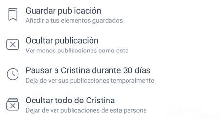 Cómo silenciar publicaciones de amigos y páginas de Facebook durante 30 días