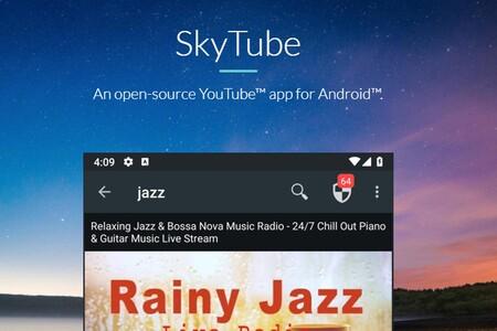 SkyTube: un cliente de YouTube con el que puedes escuchar música en segundo plano, descargar vídeos y más