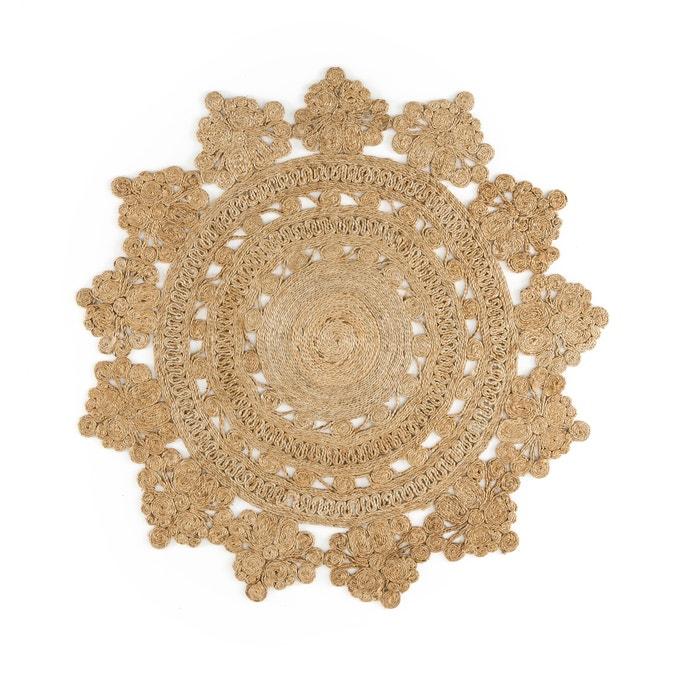 Alfombra redonda con forma de rosetón, Rozza