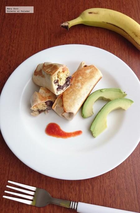 Burritos de frijol y huevo. Receta para el regreso a clases