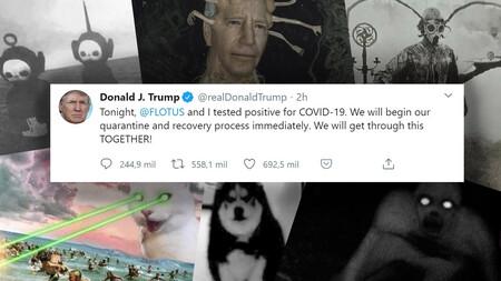 Trump dice que ha dado positivo en Covid. Y la gente ha respondido lanzándole conjuros satánicos por Twitter