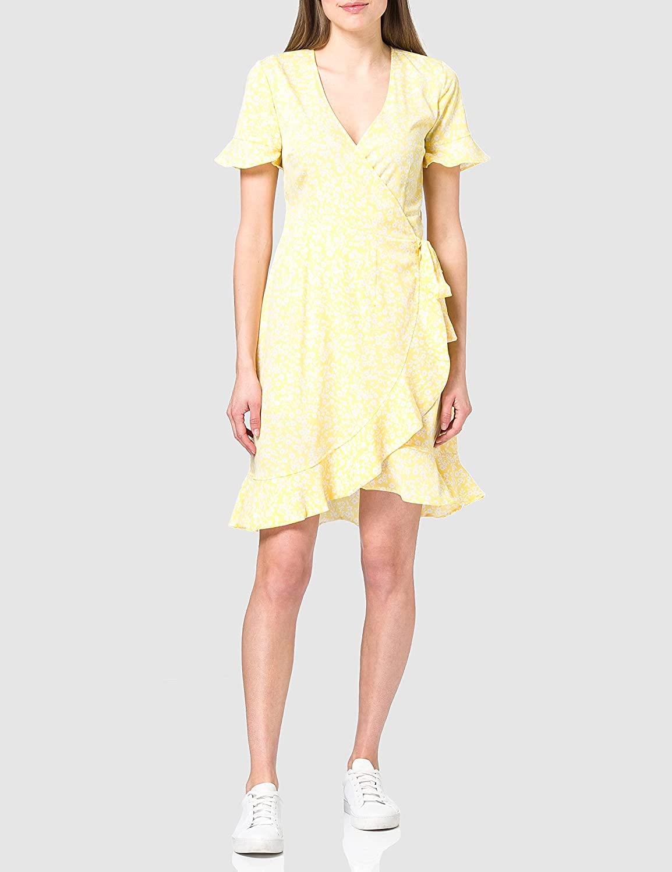 Only Onlolivia S/S Wrap Dress Wvn Noos Vestido para Mujer