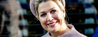 El vestido que combina Máxima de Holanda con su tocado puede convertirse en una gran opción para boda de invierno