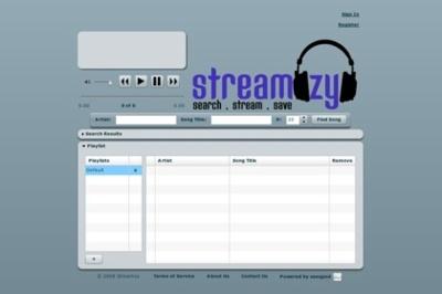 Streamzy, buscando temas musicales y generando listas de reproducción
