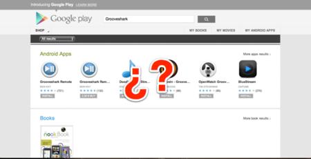Grooveshark desaparece de Google Play tan silenciosamente como apareció