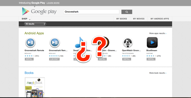 Grooveshark Play