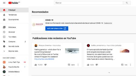 Youtube Caida Todo Mundo 2020
