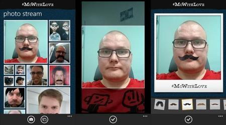 #MoWithLove, una nueva aplicación de Nokia para ponerle bigotes a las personas