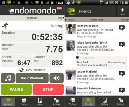 Endomondo Sports Tracker PRO para Android