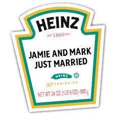 Etiquetas Heinz personalizadas