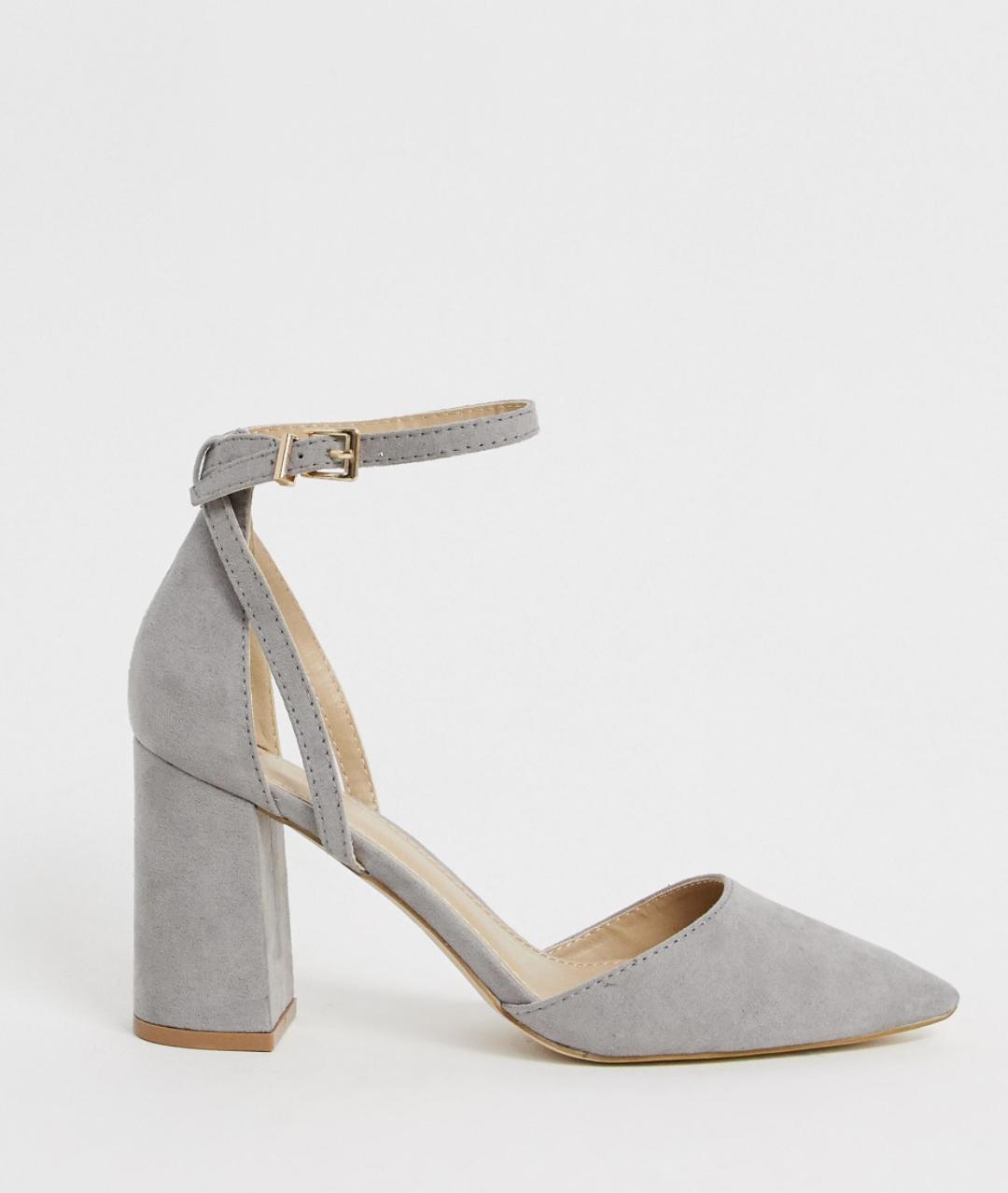 Zapatos de tacón cuadrado en gris Katy de RAID