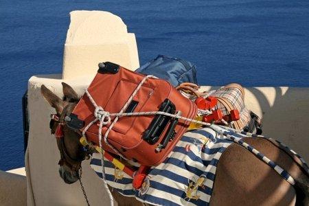 Santorini: del puerto a la ciudad a lomos de burros