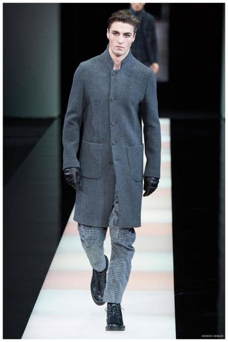 Giorgio Armani Menswear Fall Winter 2015 Collection Milan Fashion Week 007