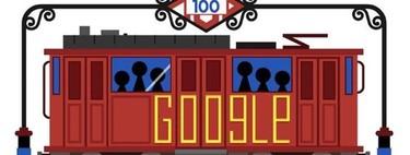 Google dedica el día al centenario del Metro de Madrid