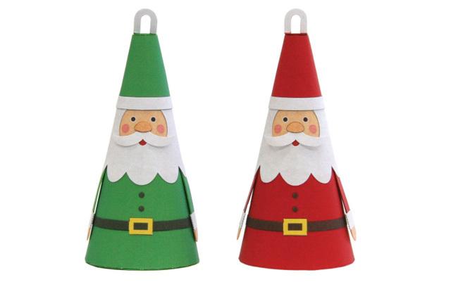 Papá Noel imprimible para el arbol