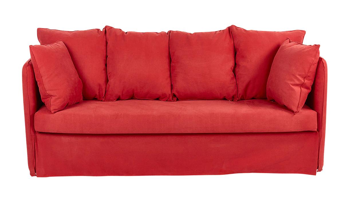 Sofá cama nido en rojo
