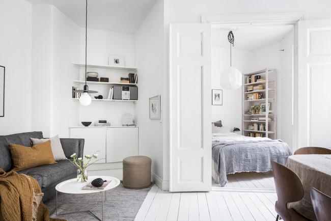 Puertas abiertas: un pequeño estudio en Göteborg con un interior digno de una adorable casa de campo