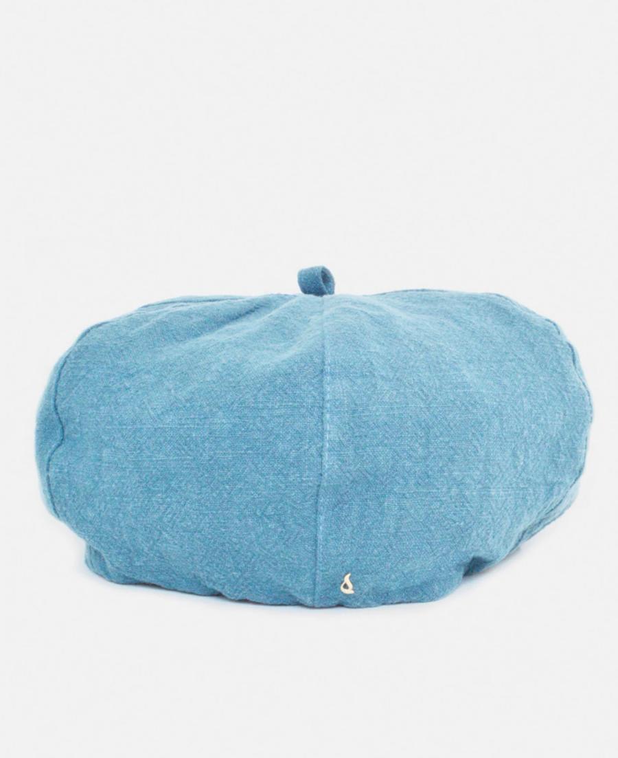 Boina de mujer Abbacino de fibra natural en azul liso