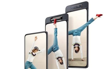 Galaxy A80: Samsung ha creado su verdadero smartphone todo pantalla con cámara retráctil que además gira para tomar selfies