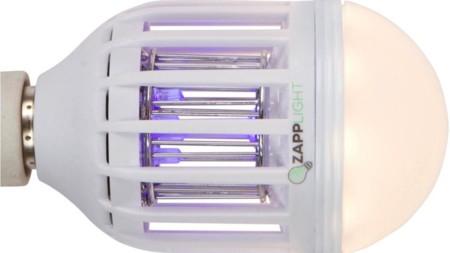 ZappLight aúna iluminación LED y trampa mata mosquitos en una sola bombilla