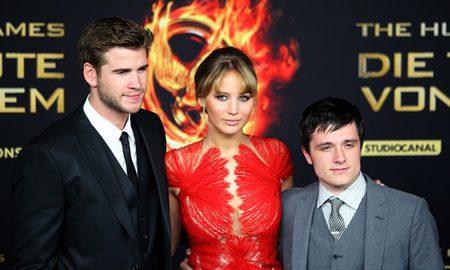Liam Hemsworth, Jennifer Lawrence y Josh Hutcherson, el trío protagonista de Los Juegos del Hambre