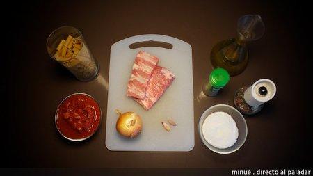 Macarrones con costilla de cerdo - ingredientes