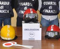 Cascos falsificados en Italia