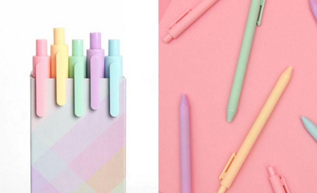 Pack de bolígrafos de gel en varios colores