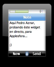 NoteIt!: Widget para enviar notas de texto a iPods o móviles Bluetooth