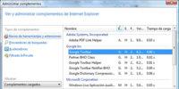 Truco: Internet Explorer 8 te avisa de qué complemento lo ralentiza