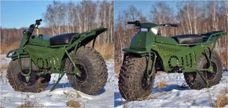 Taurus 2x2, la moto de Putin con tracción integral, desmontable, ligera y robusta