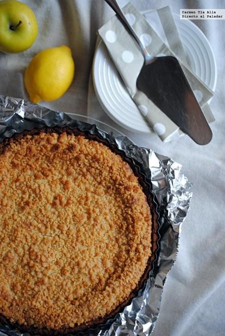 Tarta Crumble De Manzana Y Limon