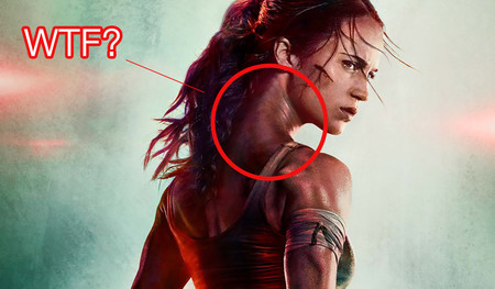 Tenemos preguntas sobre el cuello de Alicia Vikander en el nuevo cartel de Tomb Raider