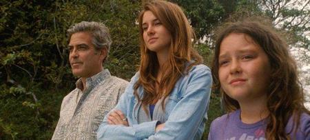 Clooney y sus dos hijas en la ficción de