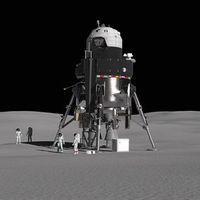 Este es aterrizador lunar tripulado reutilizable presentado por Lockheed Martin