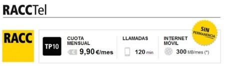 Nueva Tarifa RACCTel con 120 minutos y 300 MB por menos de 10 euros