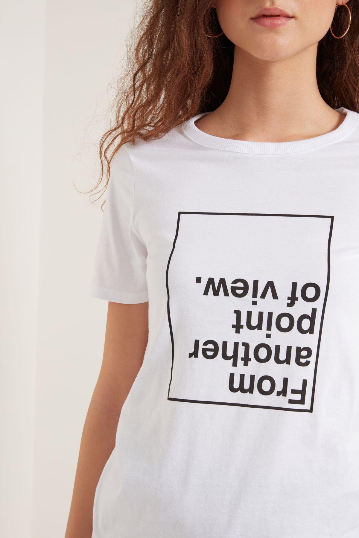 Camiseta de algodón con mensaje