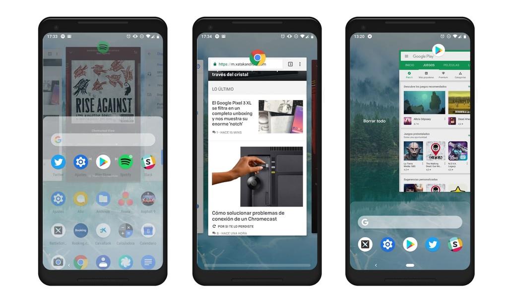 Gestos Android™ Pie