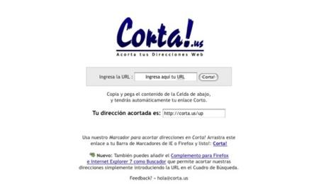 Corta!.us, sencillo acortador de direcciones web