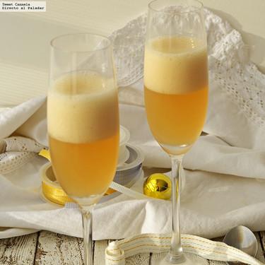Gelatina tipo Champagne. Receta para Año Nuevo