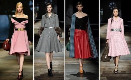 Prada propone una mujer de los años '50 en su colección Otoño-Invierno 2013/2014