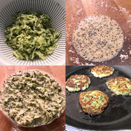 buñuelos de calabacín y parmesano