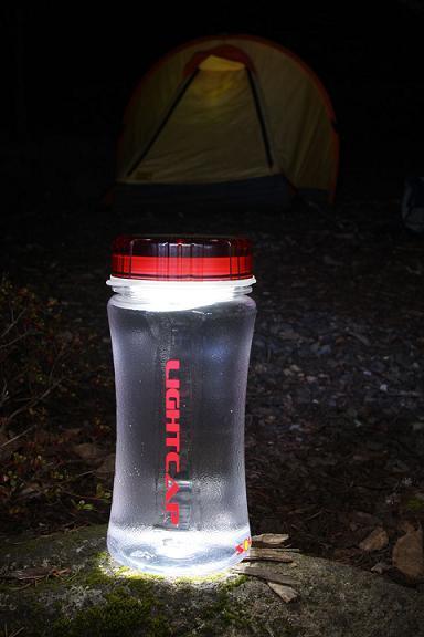 LightCap300, botella de agua que emite luz