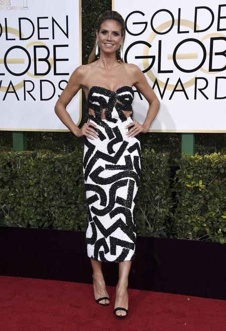 Heidi Klum De J Mendel Globos De Oro 2017